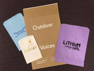 Bags: Custom foil hot stamped retail merchandise and shipping