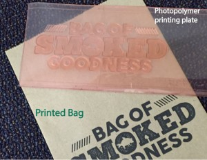 SOS Bag: Recycled Natural Kraft lunch bag printed with black ink