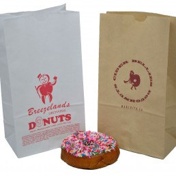 Grease resistant bagel and donut bags