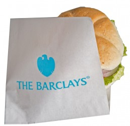 printed sandwich or burger bag grease resistant