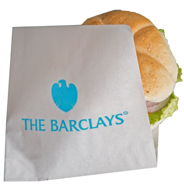 printed sandwich or burger bag grease resistant