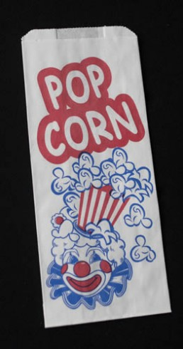 Concession Bag - White Printed Popcorn Bag