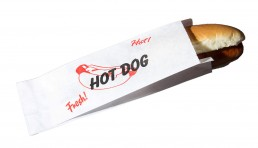 concession supplies - printed hot dog bag