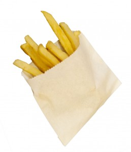 Small french fry bag
