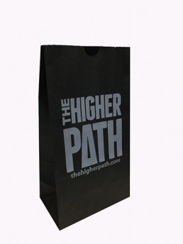 Dispensary Bag - Black Custom Printed