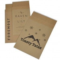 Printed Eco-Natural 100% recycled shipping bags
