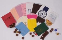 Gourmet Bags - Colors Custom Printed and Stock Unprinted Fan