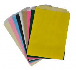 Colorful grease resistant bags for cookies, nuts and candy