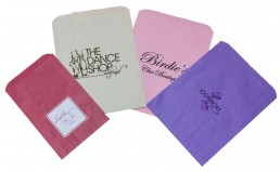 Hot stamped merchandise bags