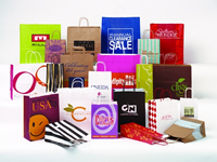Handled Shoppers - Plain Unprinted and Printed Colors