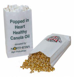 SOS Bags - White Custom Printed Popcorn