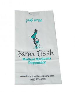 Printed paper bag for marijuana dispensary