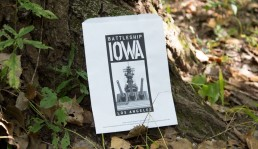 Battleship IOWA Recycled White Printed Bag