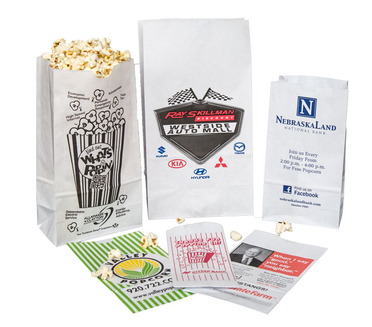 Popcorn bags custom print