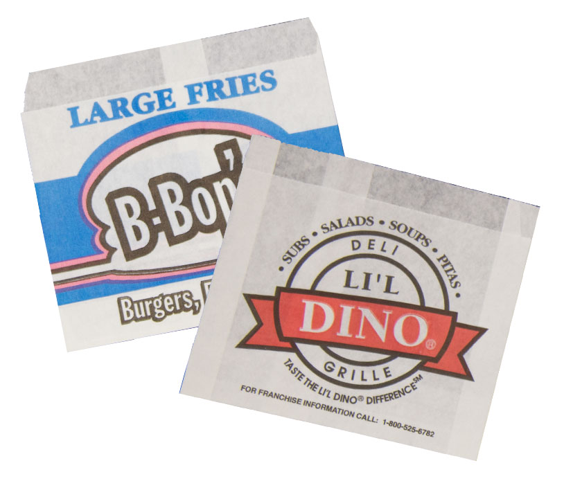 french fry bags with logo