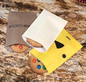 Cookies in glassine-lined Gourmet Bags