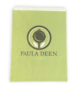 custom tinted merchandise bag in lime green