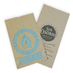 Custom Printed SOS bags for restaurant carryout to go