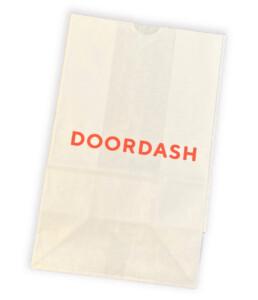Custom printed carryout sos bag door dash