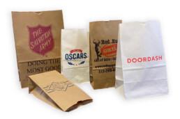Custom printed SOS bags restaurant and grocery food pantry