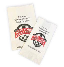 Custom printed white kraft sos bags restaurant carryout