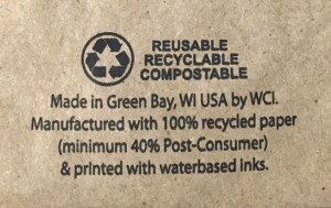 Recycled Natural bags printed with Compliant Bottom Print